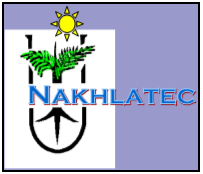 Nakhlatec logo: a palm produced by tissue culture yielding high quality fruits in the field